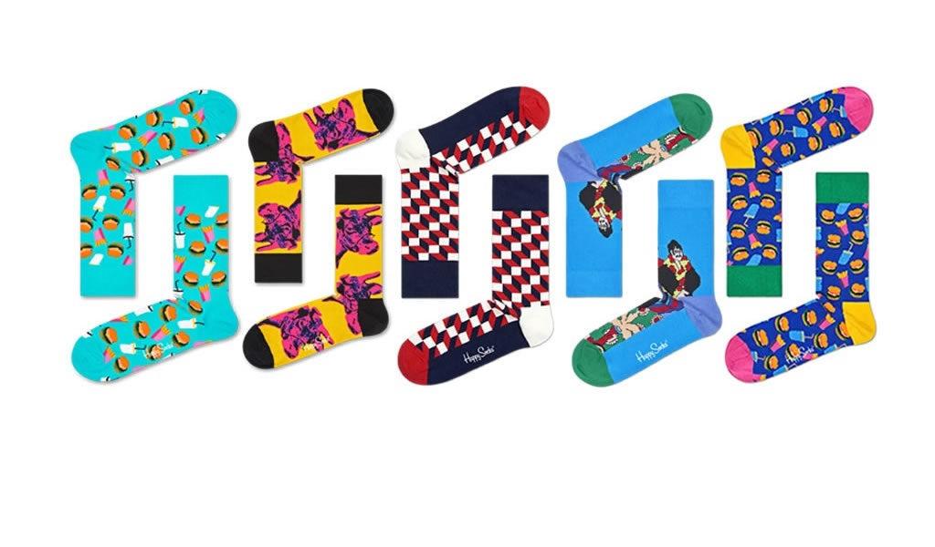 Korting 5 pack Happy Socks verrassingspakket
