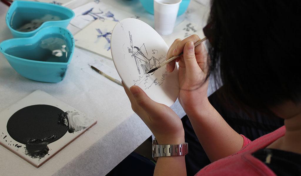 Korting Workshop Schilder Delfts blauwe tegel