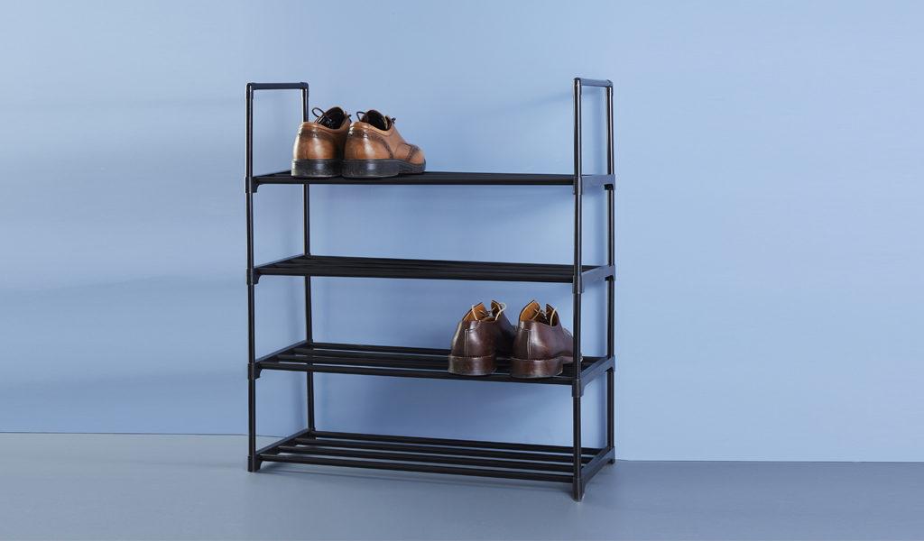 Foto Metalen schoenenrek