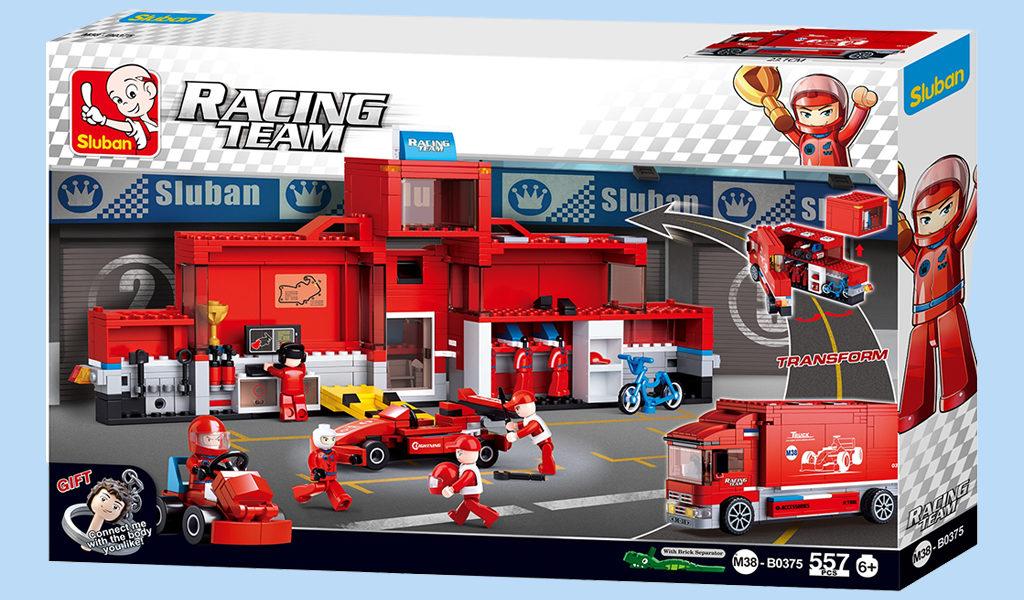 Sluban F1 truck pitplaats
