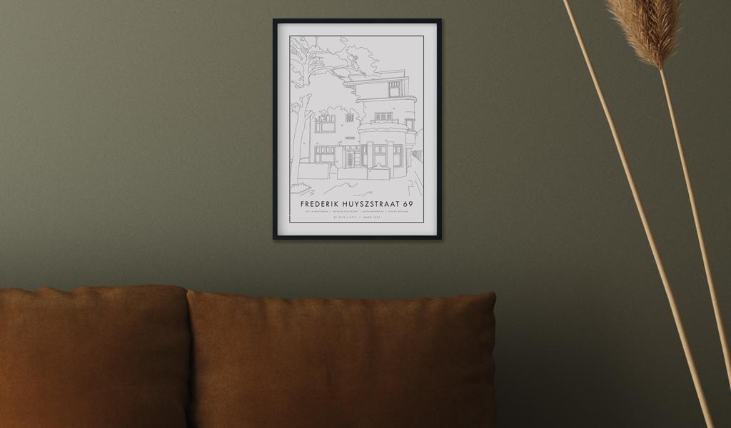Korting Een persoonlijk huisportret 21 x 30 cm
