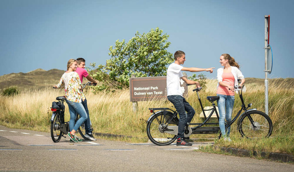 Interactieve fietsspeurtocht op Texel