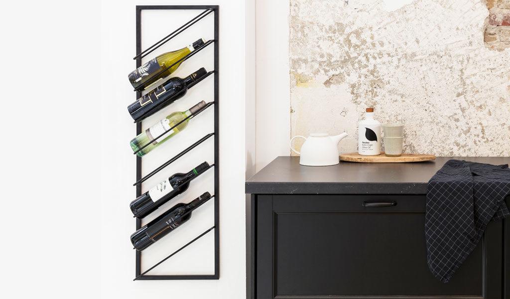 Wand-wijnrek